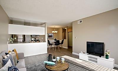 Living Room, Magnolia Apartments, 0