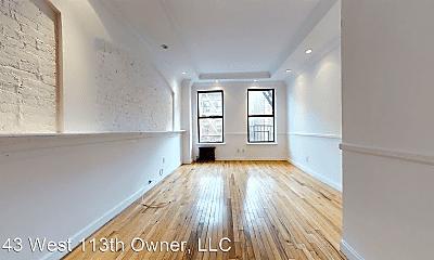 Living Room, 143 W 113th St, 0