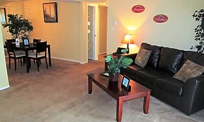 Living Room, The Flats at Meridian Hills, 0