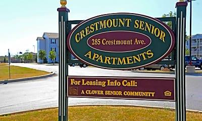Community Signage, Crestmount Senior Apartments, 1