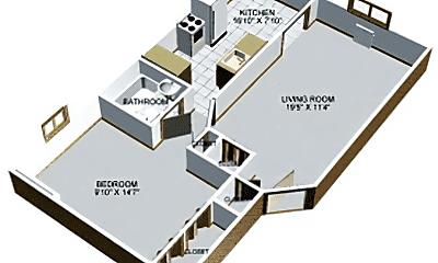 Living Room, 3442 Main St, 2