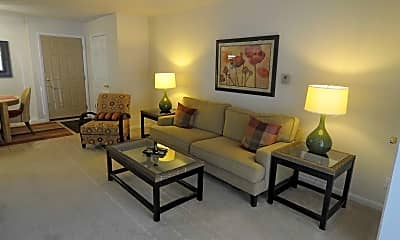 Living Room, Lakeview Apartments, 0