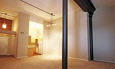 Living Room, The Lofts At Greensborough Court, 0