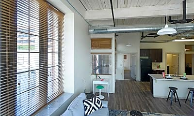 Living Room, Station Plaza Apartments, 1