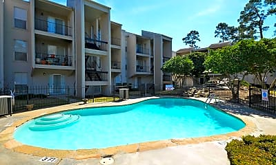 Pool, Fountain Woods Apartments, 1