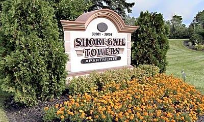Community Signage, Shoregate Towers, 2