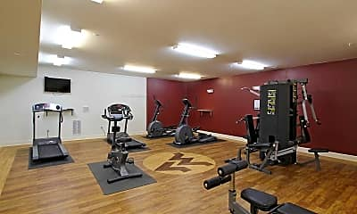 Fitness Weight Room, Mountaineer Place Apartments, 2