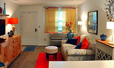 Living Room, Kilborough Apartments, 1