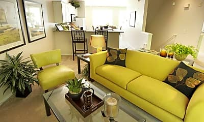 Living Room, The Colonnade Townhomes, 1