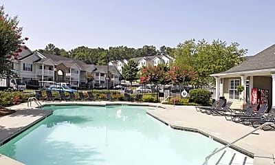 Pool, Stone Mill Apartments, 0