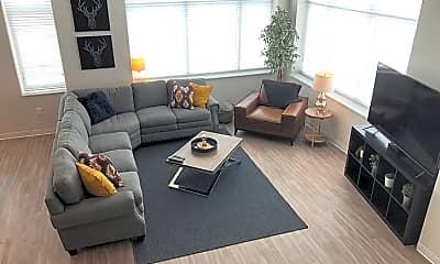 Living Room, Manseau Flats Apartment Building, 1