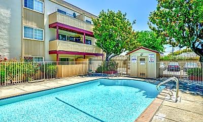Pool, Sequoia Grove Apartments, 1