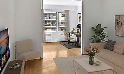 Living Room, 245 E 24th St 15D, 0