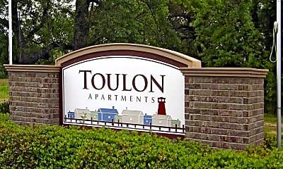 Community Signage, Toulon Apartments, 2