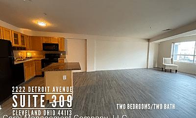 Living Room, 2222 Detroit Ave, 1