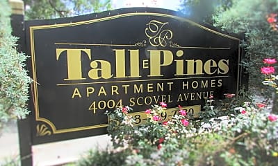 Community Signage, Tall Pines Apartments, 1