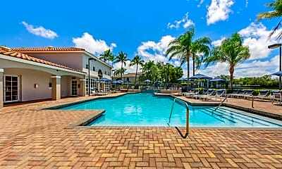 Pool, Gatehouse at Pine Lake Apartments, 1