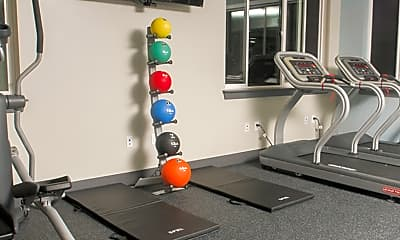 Fitness Weight Room, Gallery Flats Apartments, 1