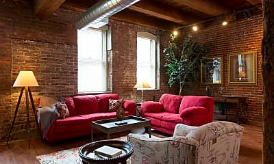 Living Room, Old Townley Lofts, 0