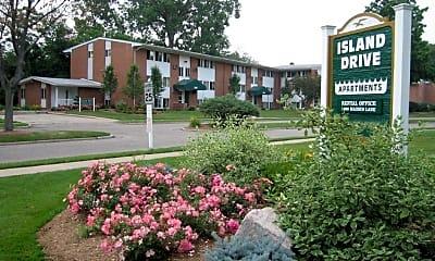 Community Signage, Island Drive Apartments, 0