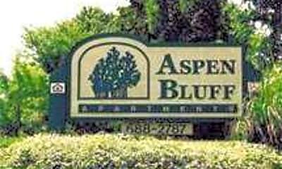 Community Signage, Aspen Bluff Apartments, 0