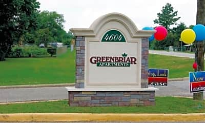 Community Signage, Greenbriar Apartments, 1