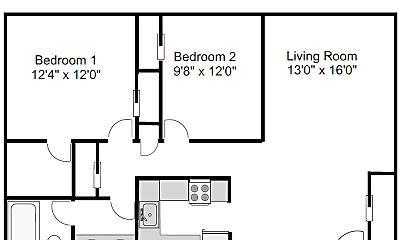 Bathroom, 709 W Park Ave, 2