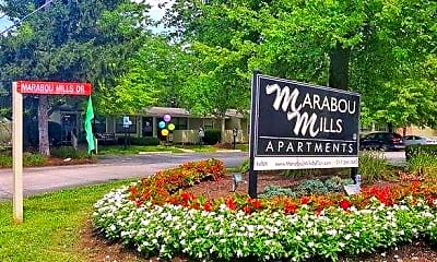 Community Signage, Marabou Mills, 0