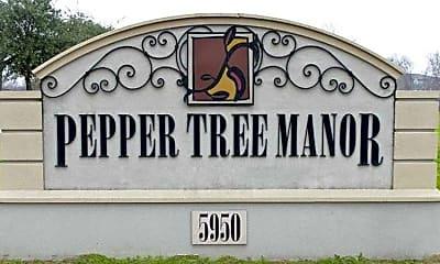 Community Signage, Pepper Tree Manor, 2