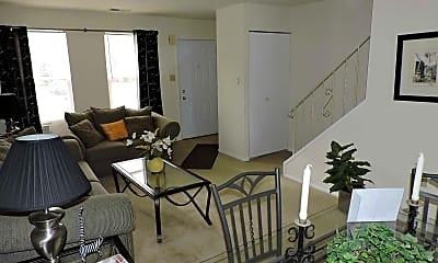 Living Room, Spring Garden Townhouses, 0