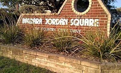 Barbara Jordan Square, 1