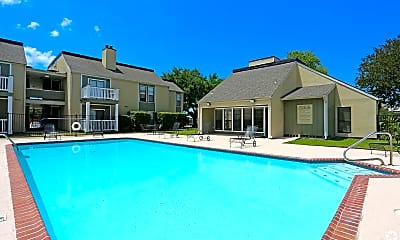 Pool, Pecan Acres Apartments, 1