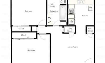 Bedroom, 627 600 W, 2