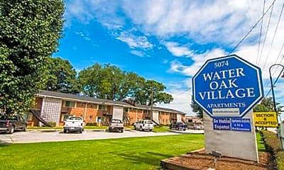 Community Signage, Water Oak Village Apartments, 1