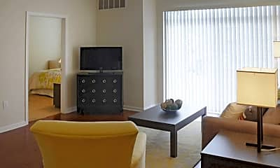 Living Room, Springhouse Apartments, 1