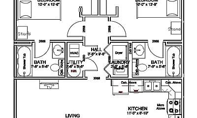 Bathroom, 1306 Maple St, 2