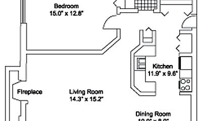 Bedroom, 220 S Rush St, 2
