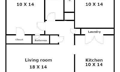 Bedroom, 534 E Harrison St, 2
