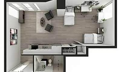 Living Room, 1047 Commonwealth Avenue, 2