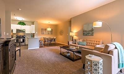 Living Room, Woodlake Apartments, 0