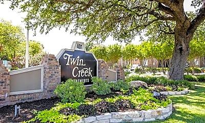 Community Signage, Twin Creek Apartments, 1