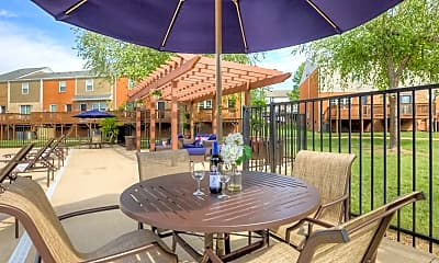 Pool, 501 Towns Townhome Apartments, 1