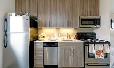Kitchen, The Loop Isla Vista - PER BED LEASE, 1