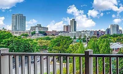 Patio / Deck, Parktowne Apartments, 2