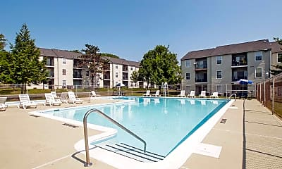 Pool, Hickory Hill Apartments, 1