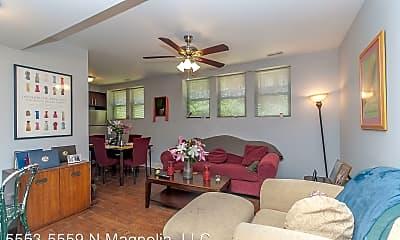 Living Room, 5553 N Magnolia Ave, 1