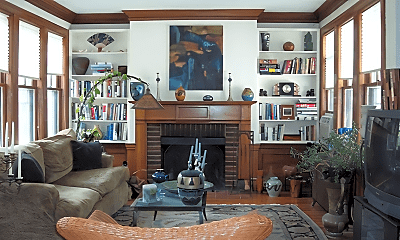 Living Room, 521 Commonwealth Avenue, 1