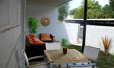 Patio / Deck, Promenade des Jardins Apartments, 2