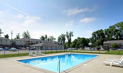 Pool, Canterbury House Apartments, 1
