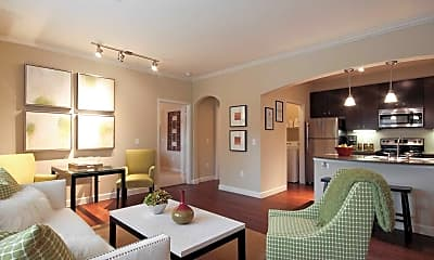 Living Room, The Retreat at Conroe, 1